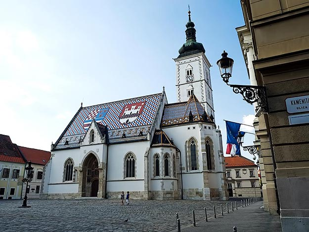 Croatia-Zagreb-St-Marks-Catholic-Church
