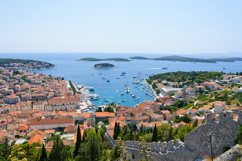 Cityscape of Hvar in Croatia